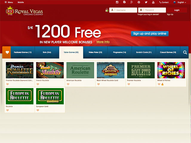 free online casino games royal roulette